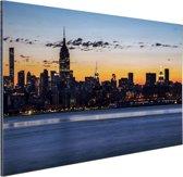 New York City Aluminium 90x60 cm - Foto print op Aluminium (metaal wanddecoratie)