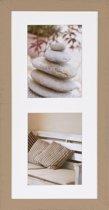 Henzo Driftwood 2x Fotolijst - Fotomaat 15x20 cm - Beige