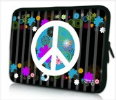 Laptophoes 14 inch peace - Sleevy - Laptop sleeve - Macbook hoes - beschermhoes