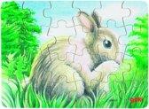 Goki Puzzel babydieren: konijn buiten 24-delig
