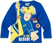 Brandweerman-Sam-T-shirt-met-lange-mouw-blauw-maat-104