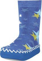 Playshoes soksloffen sterren blauw Maat: 19-22