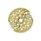 LOCKits 982501881 - Mix & Match stalen munt - bloem - Ø 25-1 mm - goudkleurig