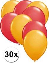 Ballonnen Oranje & Rood 30 stuks 27 cm