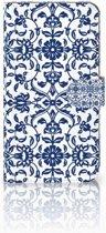 Huawei Mate 9 Uniek Boekhoesje Flower Blue