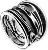 The Jewelry Collection Ring Oxi - Zilver Geoxideerd