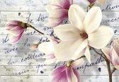 Fotobehang Flowers With Caption   L - 152.5cm x 104cm   130g/m2 Vlies
