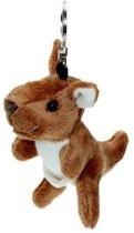 Pluche kangoeroe sleutelhanger 15 cm