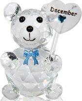 Kristalglas beer geboorte maand december