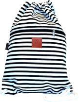 Rugtas Stripes Black | T-Bags | 100% Katoen | 14 Liter | Zwart & Wit | Comfortabel