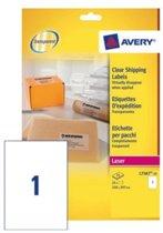 Huismerk Avery L7567-25 Laser Etiket 210x297mm