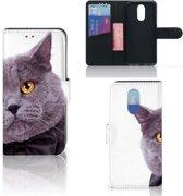 LG Q7 Telefoonhoesje met Pasjes Kat