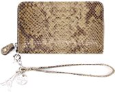 by LouLou SLB2XS Perfect Python - Portemonnee - Taupe