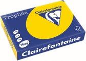 Clairefontaine Trophée Pastel A4 goudgeel 160 g 250 vel
