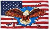 Vlag van de USA met adelaar 90 x 150