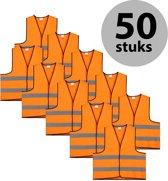 Veiligheidshesje - Veiligheidsvest - Kind - Oranje - 50 stuks