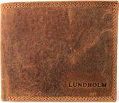 Lundholm leren portemonnee heren leer cognac compact model - vintage
