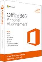 Microsoft Office 365 Personal - Engels - 1 Jaar Abonnement