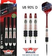 Bull's V8 90% D 25 gram Steeltip Dartset