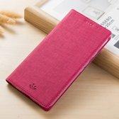 Hoesje voor Samsung Galaxy Note 8, canvas bookcase, roze