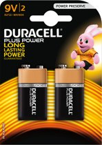 Duracell 9V Plus Power Alkaline Batterijen - 2 stuks