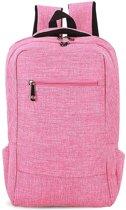 Let op type!! Universele multifunctionele 15.6 inch Laptop Schouderstas studenten Backpack voor MacBook  Samsung  Lenovo  Sony  Dell  Chuwi  Asus  HP  Afmetingen: 43 x 28 x 12 cm (hard roze)
