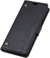 Mobigear Copper Buckle Retro Wallet Hoesje Zwart Xiaomi Mi 8