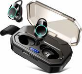 JAP Sounds AP24 - Draadloze in-ear sport earbuds - Waterdicht - 3000mAh Powerbank en oplaadetui - Auto connect - Zwart