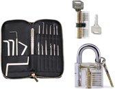 SFRD Products Lock Pick Set - 25 Delig - 2X Doorzichtig Oefenslot