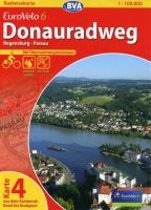 BVA-Radreisekarte Eurovelo 6 Karte 04 Donauradweg 1 : 100 000