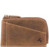 Visconti Leren Portemonnee - Compact RFID Portemonnee - Leer - 2 Pasjes - Slim Collectie - Bruin (VSL30 TN)