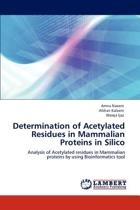 Determination of Acetylated Residues in Mammalian Proteins in Silico
