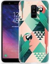 Galaxy A6 Plus 2018 hoesje Exotic Trendy Parrots