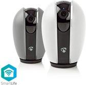 Nedis WIFICI20CGY Slimme WiFi IP-camera met Pan/Tilt/Zoom (HD 720p, microSD, IR+2-weg audio, PTZ)