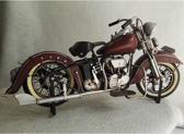 Blikken - motor - model - harley - davidson - donkerrood - rood - blik