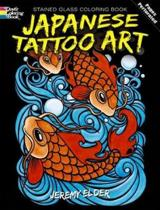 Japanese Tattoo Art Stained Glass Coloring Book