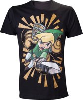 Nintendo The Legend of Zelda Kid Link Black TShirt S