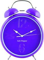 Salt&Pepper Zone Klok - 25 cm - Wekkerfunctie - paars