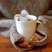 Theefilter mannetje van JY&K | thee ei | losse thee zeef | theezeefje | houder | tea | mr.tea