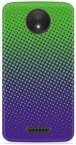 Motorola Moto C Hoesje lime paarse cirkels