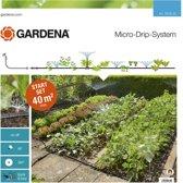 GARDENA Micro Drip startset - Geschikt voor bloembedden - moestuinen - geschikt voor 40m²