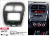 MITSUBISHI ASX 2-din frame autoradio