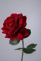 Viv! Home Luxuries - Roos extra groot - zijden bloem - rood - topkwaliteit