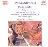 Szymanowski: Piano Works Vol.1