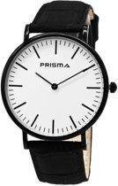 Prisma Herenhorloge P.1622.148G Lederen band Edelstaal