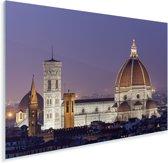 De Dom van Florence met paarse lucht op de achtergrond in Italië Plexiglas 180x120 cm - Foto print op Glas (Plexiglas wanddecoratie) XXL / Groot formaat!
