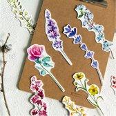 ProductGoods - 30x luxe bloemen boekenleggers