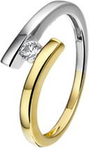 The Jewelry Collection Ring Diamant 0.10ct H P1 - Bicolor Goud