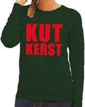 Foute kersttrui / sweater Kutkerst groen voor dames - Kersttruien M (38)