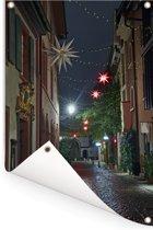 De gezellige straten in het Duitse Freiburg Tuinposter 80x120 cm - Tuindoek / Buitencanvas / Schilderijen voor buiten (tuin decoratie)